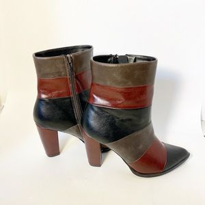 🦩 2/25$ NWT: patchwork ankle boot